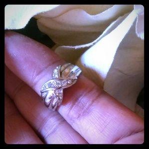 Vintage CrissCross Rhinestone Ring